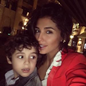 Санта Димопулос с сыном Даниэль