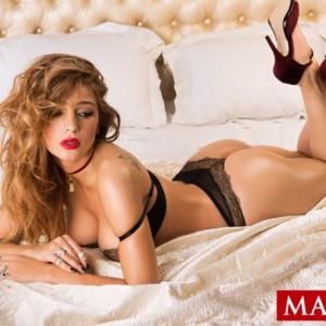Настя Ивлеева в журнале Maxim